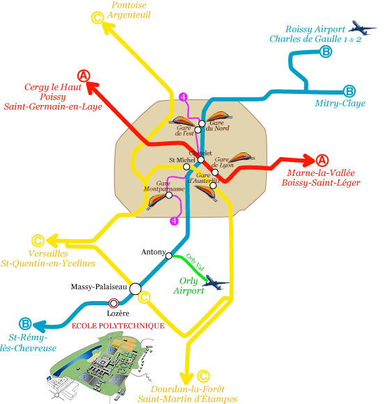 download the map of airports stations and rer stations
